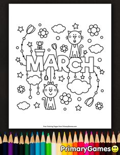 Spring Coloring Pages Pdf New March Coloring Page Spring Coloring Pages, Coloring Pages To Print, Colouring Pages, Coloring Sheets, Coloring Books, Preschool Coloring Pages, Free Adult Coloring Pages, March Colors, Spring Colors