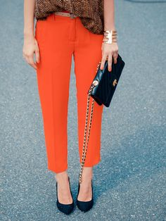 we love a good colored pant