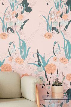 Slide View: 1: Willa Wildflower Removable Wallpaper