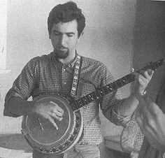 A very young Jerry with his banjo.