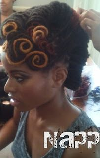 beautiful locs updo