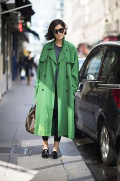 trench coat, inverno, cor, verte, slipper, mocassim, skinny jeans, leggings, casual,