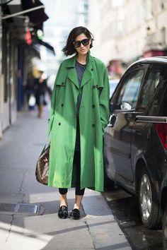trench coat, inverno, cor, verte, slipper, mocassim, skinny jeans, leggings, casual,