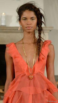 Quirky asymmetrical side braid