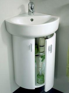 Lave mains d 39 angle complet pour wc avec meuble couleur for Mueble encima wc ikea