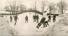 Hammarby IF training in the snow un Stockholm 1924