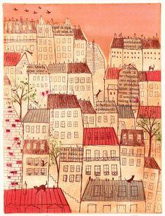 7 Cats in Montmartre II by Sayaka Abe
