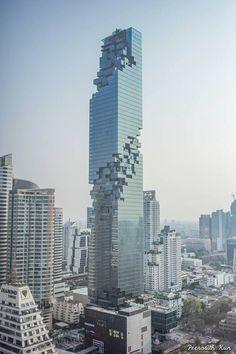 Mahanakhon, the New Art Design Skyscraper of Bangkok - #Architecture+Interiors #Architecture, #Art, #Sculpture, #Wall, #World (source: creativespotting.com)