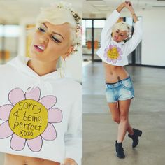 Jac Vanek Sweater, Wildfox Couture Shorts, Flower Gypsies Flower Crown, Urban Og Boots