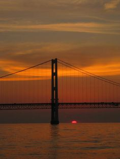 Sunset on the Mackinac Bridge by Pure Michigan, via Flickr