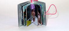 mini Fotobuch im super Kleinformat aufgeklappt