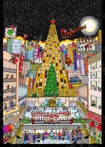 Charles Fazzino Holiday Cards