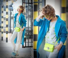 "Fabulous !!!! "" Neon Accents "" - Anderne featured in gorgeous "" Ellena Galant "" blog ! Stay tuned !!! http://galantgirl.com/neon-accents-outfit/"