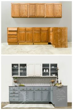 This is the before and after shot of the kitchen that I revealed on Fox & Friends. I love how Amy Howard at Home One Step Paint can transform a kitchen with no stripping, sanding, or priming! You can even use One Step Paint to create a chalk board to show your guest or family tonight's menu. This was complete with a zinc countertop made from galvanized sheet metal with Amy Howard at Home Antique Zinc Solution, and a glass back splash with Amy Howard at Home Furniture Lacquers!