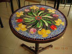 mosaic table- mozaik masa by vitraydunyasi, via Flickr