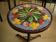 mosaic table- mozaik masa by vitraydunyasi, via Flickr