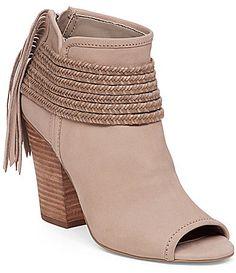 BCBGeneration Cinder PeepToe Block Heel Booties #Dillards