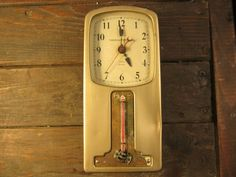 Antique Brass Art Deco G E Thermostat and Telechron clock, programable functions via Etsy
