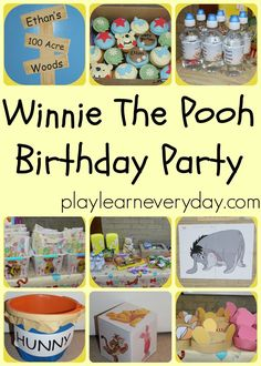 A fun way to celebrate a child's birthday with a Winnie the Pooh themed party.  Including decorations and game ideas for little ones.