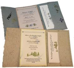 Handmade Recycled Wedding Invites Wedding Invitations Photos on WeddingWire