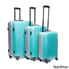 Nautica 'Ahoy' 3-piece Hardside Spinner Luggage Set | Overstock.com Shopping - The Best Deals on Three-piece Sets