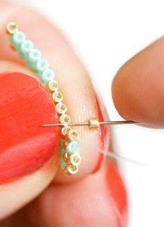 Tuto tissage perles, les étoiles à la pistache.