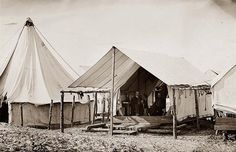 Morris Island, An unidentified camp. American Revolutionary War, American Civil War, Captain American, American History, Morris Island, Fort Sumter, Civil War Photos, Tent Camping, Camping Ideas