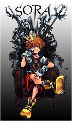 Sora - Kingdom Hearts 1.5 - I made a few edits >v>