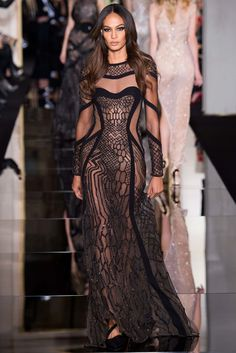 Atelier Versace Spring 2015 Couture Fashion Show - Joan Smalls (IMG)