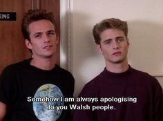 Cute White Boys, Pretty Boys, Tv Quotes, Mood Quotes, Brandon Walsh, Jason Priestley, Luke Perry, Beverly Hills 90210, Fine Men