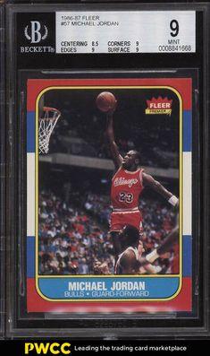 2a6e3d50564 1986 Fleer Basketball Michael Jordan ROOKIE RC #57 BGS 9 MINT (PWCC) #