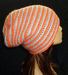 Slouchy Beanie Ribbed Slouch Hat Unisex Stripe Slouchy by berly731