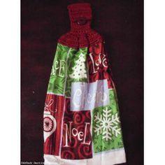 Hand Crochet Top Hand Kitchen Dish Towels NEW - NOEL