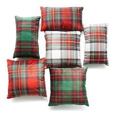 Hofdeco Christmas Decorative Throw Lumbar Pillow Case Royal Stewart Moran Tartan Classic Red Scottish Plaid Velvet Cushion Cover  Christmas 2017 is going to be more festive than ever therefore consider using cute Christmas accent pillows.  Christmas throw pillows come in many different fabrics, textures, styles and colors.   I decorate my home with green and red Christmas color scheme therefore I use a great deal of red Christmas accent pillows along with green holiday throw pillows.
