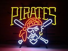 Pittsburgh Pirates Beer Bar Real Glass Tube Neon by NeonLightSign, $99.00
