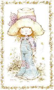 Sarah Kay - I remember having the bedding set. Sarah Key, Holly Hobbie, Sara Key Imagenes, Beatrix Potter, Decoupage, Cute Illustration, Illustrations, Vintage Cards, Paper Dolls