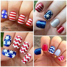 4th of july nails http://www.jexshop.com/