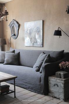 super Ideas for living room grey decor gray sofa Living Room Grey, Living Room Sofa, Living Room Decor, Living Spaces, Gray Interior, Modern Interior Design, Small House Decorating, Interior Decorating, Decorating Ideas