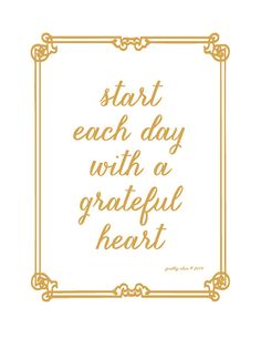 Start each day with a Grateful Heart by prettychicsf on Etsy