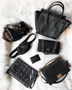 "Bragmybag on Instagram: ""✨Which One Would You Choose? I Want The Gabrielle Bag?✨ - 📷: @aphinya_w . . . . . . . . . . . #chanel #chanelbag #chanelbags #chanellove…"" Luxury Purses, Luxury Bags, Best Handbags, Purses And Handbags, Replica Handbags, Black Designer Bags, Handbag Display, Prada, Designer Crossbody Bags"