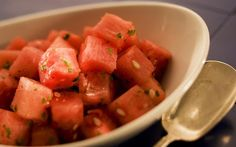 Watermelon with mint and lime (Ricardo DeAratanha / Los Angeles Times) Recipe on Yummly