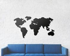 Etsy :: Your place to buy and sell all things handmade World Map Wall Decor, Metal Signs, Etsy Seller, Wall Art, Creative, Interior Design, Handmade, Stuff To Buy, Design Ideas