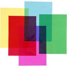 #Cellofaan, A4 21x30 cm, 25 micro, 100 assorti vel, kleuren assorti
