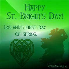 Happy Brigid's day February 1st.