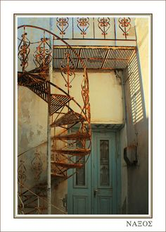Rusty greek staircase - Naxos, Kyklades