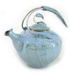 Théière-Licorne-Bleue-Céramique