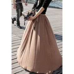 Ladylike Style High Elasticity Solid Color Bow Tie Women's Skirt
