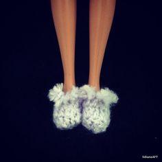 Croche /Pantufas para Barbie - LiiArt