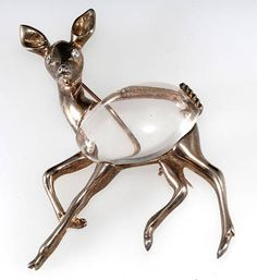 Jelly belly deer pin marked only sterling