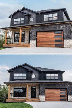 23 Fabulous Modern Farmhouse Exterior Design Ideas That Will Make You Feel Bette. - 23 Fabulous Modern Farmhouse Exterior Design Ideas That Will Make You Feel Better - Exterior Paint Colors For House, Dream House Exterior, Paint Colors For Home, Exterior Colors, Exterior Windows, House Exterior Design, Interior Design, Style At Home, Villa Design